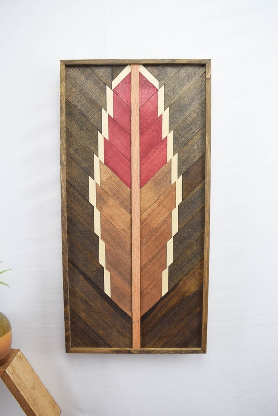 Wall Decor Made From Wood : Handmade reclaimed wood wall art hanging by