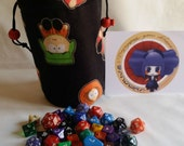 "Bag of dice in fabric ""South Park"""