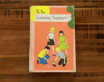 1956 The New Learning Numbers Schoolbook/ Hardcover/ John C. Winston Company