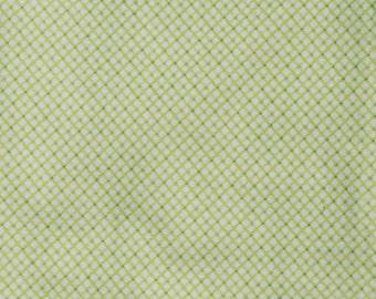 Green Diamond Print Flannel Baby Blanket