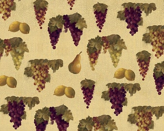 1 YD - Fresco Fruit Afternoon (Grapes/Wine) by David Textiles