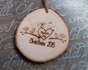 Engraved Christmas Ornament, Personalized Christmas Ornament, Love, Christmas Tree Decoration, Wedding Gift, Christmas Gift, Couples Gift