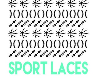 Sport Laces Nail Stickers