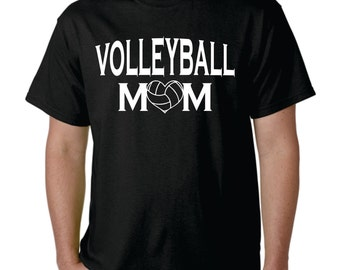 Custom Volleyball Mom Shirt | Personalized Volleyball Mother | Volleyball Shirt | Volleyball Black, Short Sleeve T-shirt