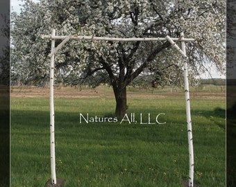 White Birch Wedding Arch/White Birch Arbor/Complete Kit For Indoor Or Outdoor Weddings/Rustic Wedding Backdrop/Shipping Included