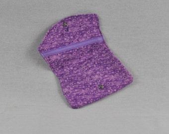 Lavender Print Card Holder