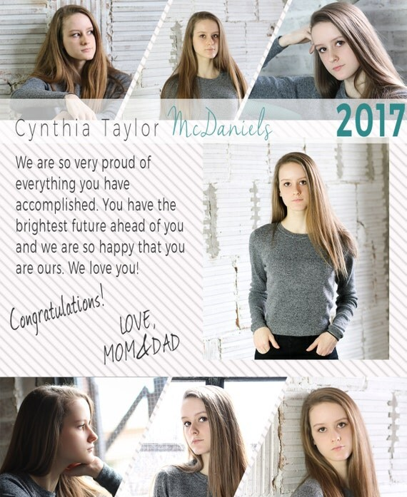 senior yearbook ad templates free - senior yearbook ad photoshop template graduation immediate
