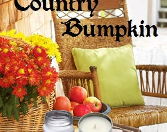 Country Bumpkin Soy Candle 8 oz Soy Wax Mason Jar Candle, Handmade, Hand Poured Pick Your Style and Color