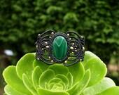 Macrame Bracelet-Malachite-Macrame jewelry-Boho chic-Tribal bijoux-Bracelet for women-Sacred Geometry