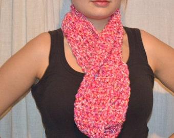 Infinite scarf - pink variation