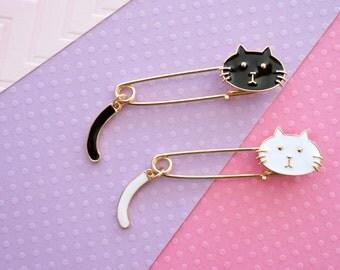 Cat Enamel Pin | Lapel Pin | Cat Pin | Snarky Cat | Brooch