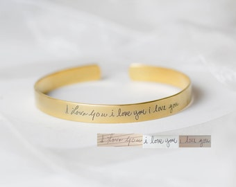 Adjustable Signature Cuff Bracelet - Handwriting Bracelet - Personalized Gift - Custom Handwriting Sympathy Gift - Mother Gift