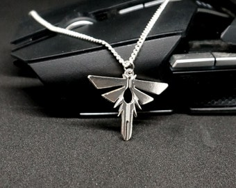 Firefly pendant hand made sterling silver gaming gamer fantasy necklace pendant