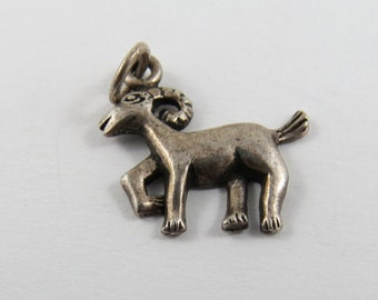 Ram Sterling Silver Charm or Pendant.