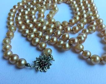 Edwardian pearl necklace, edwardian jewels, antique jewels-Pearl Necklace jewelry, antique jewelry, Edwardian Edwardian extra long