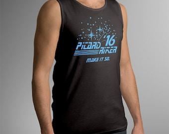 Star Trek Inspired Picard Riker 2016 Men's Tank Top