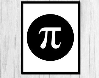 Algebra Poster Pi Art Digital Download Math Poster Geometry Poster Calculus Poster Math Printable Instant Download Arithmetic Poster