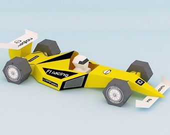 DIY printable F1 car,papercrafts,paper toys,instant digital download,tabletop,desktop,party,gifting,decoration,workspace