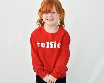 Elfie Children's Christmas Sweatshirt Jumper - Kids Christmas Jumper - Children's Sweatshirt - Christmas Gifts- Kids Christmas[SWTCH-XM-002]