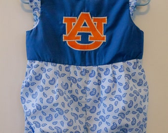 Ready to ship SIZE 12 MONTHS Auburn Baby Bubble, Auburn Baby Romper, Auburn Outfit