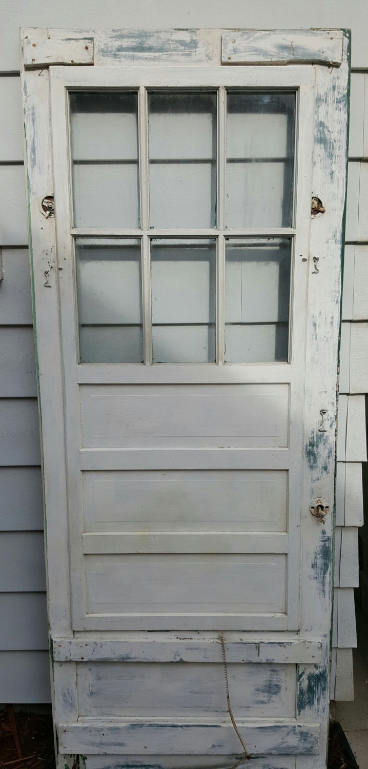 Vintage old wood door screen door building supply for Old wood doors salvaged