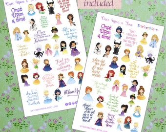 Once Upon a Time... Cute Planner Stickers