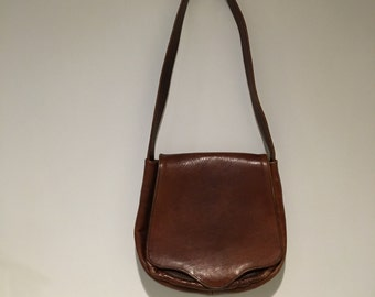 Vintage Leather Bag ~ Brown Handbag Purse ~ Messenger Bag ~ Satchel ~ Shoulder Bag ~ Hobo Bag