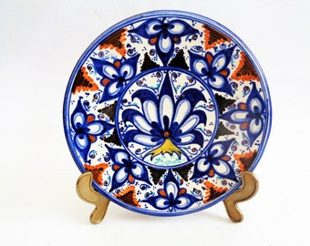 Italian Plate, Wall Hanging Display Plate, Majolica Plate, Faenza Plate, Traditional Decorative Italian Plate, Hand Painted Wall Plate,