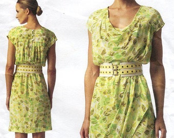 Free Us Ship Vogue 1343 Sewing Pattern American Designer Tracy Reese Pullover Dress Size 8/16 16/24 Bust 31.5 32.5  34 36 38 40 42 44 46