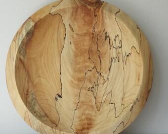 "16"" American Elm Platter   Wooden Serving Dish"