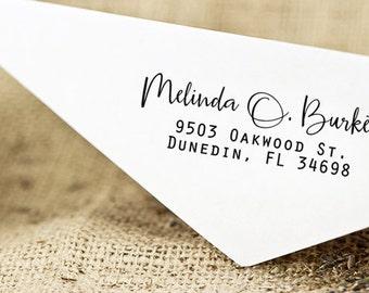 Custom Return Address Stamp, Personalized SELF INKING Wedding Stationery Stamper, Modern Calligraphy stamp, Custom wedding address stamp,