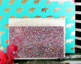 File Sorter-Acrylic-Multi Glitter-Desk Accessories