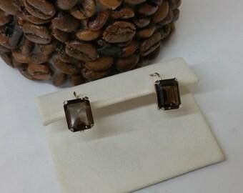 Earrings smoky quartz 925 Silver SO111