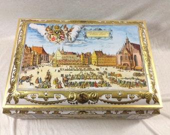 Beautiful Lebkuchen E Otto Schmidt Vintage Tin Canister Vintage Lebkuchen Tin