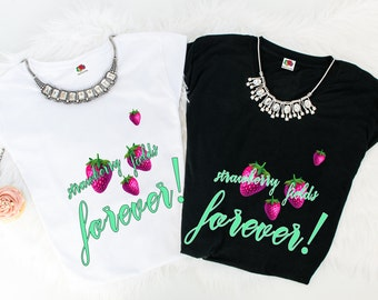 Strawberry fields forever tees.