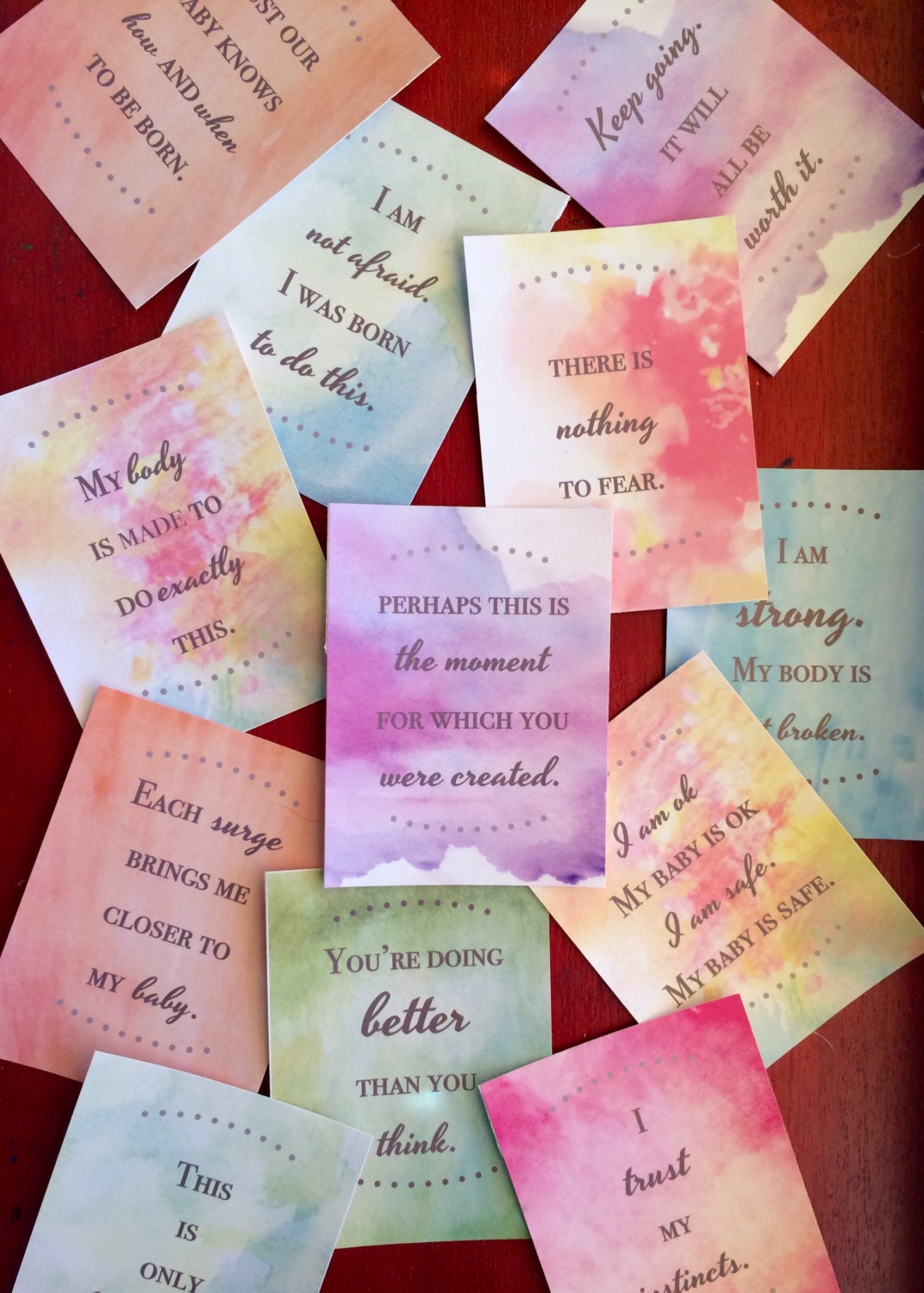 It's just a graphic of Revered Affirmation Cards Printable