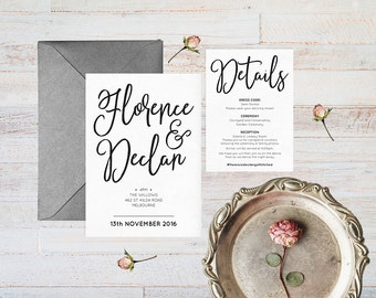 Elegant wedding invitations, Formal wedding invitation, Printable invitation, Printable wedding suite, Classy wedding invitations