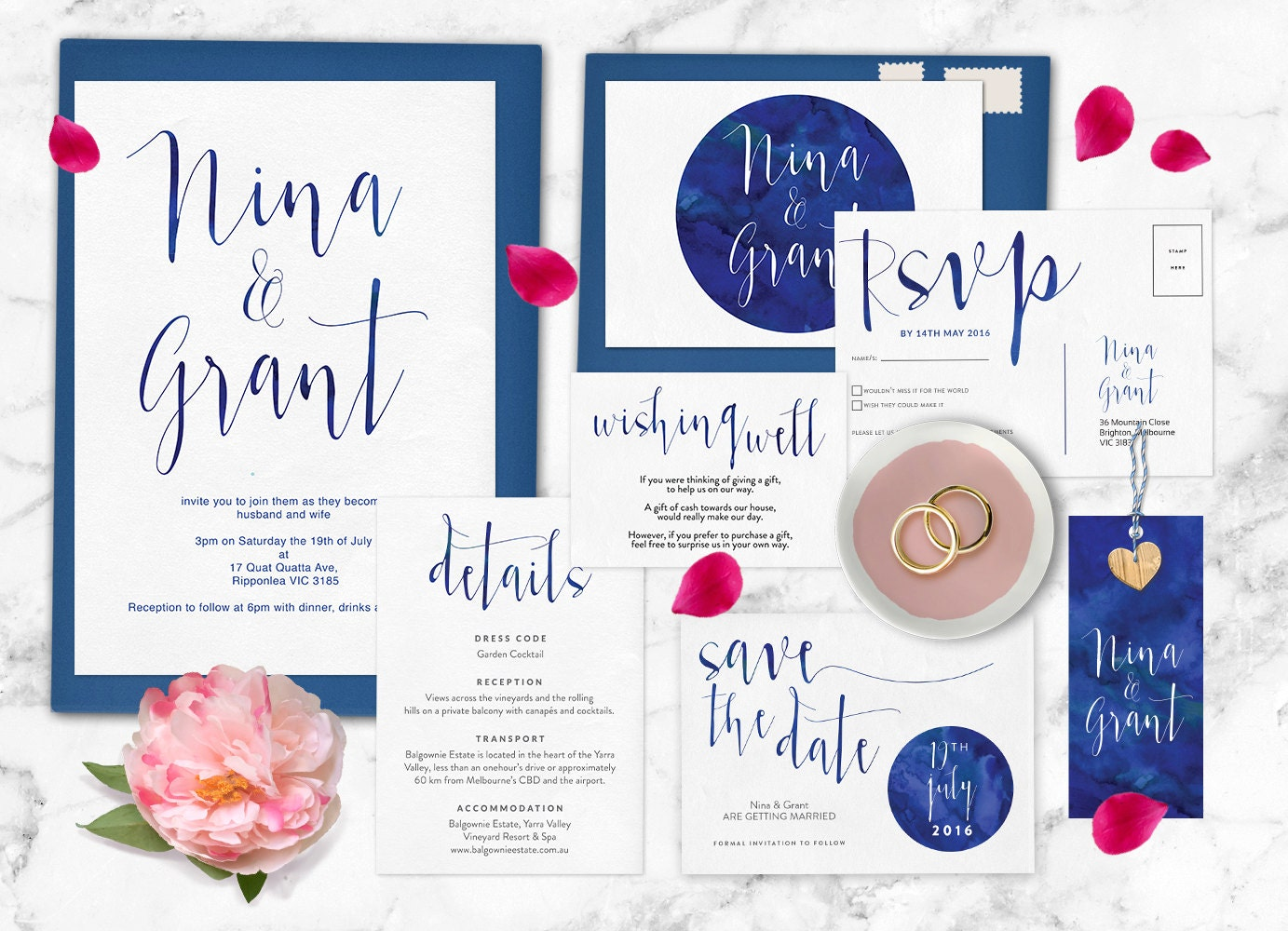Navy wedding invitation set, Navy wedding invites, Navy blue wedding invitations, Save the date, RSVP postcard, Wedding set, Wedding suite