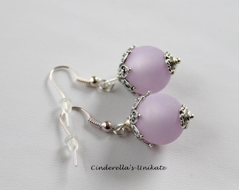 Beautiful Polaris earrings of lilac with a silver