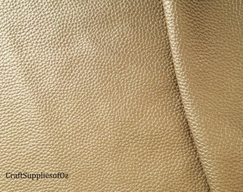 Gold Faux Leather Gold Leatherette Texured Gold Soft Leatherette Supply in Australia