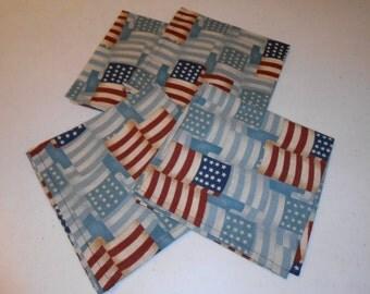 Flag Handmade Cotton Napkins (4)