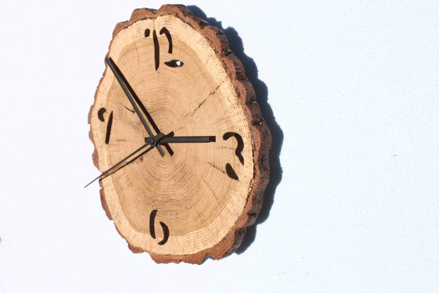 Oak clock unique wall clocks wall clock wood wooden slices zoom amipublicfo Image collections