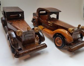 TWO LARGE Original 1920u0027s Ford Model A  Scale model Hand carved wooden Car Model & 1920s cars | Etsy markmcfarlin.com