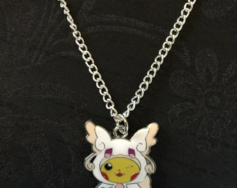 Silver Plated Nintendo Pokemon Cosplay Pikachu Mega Audino Necklace