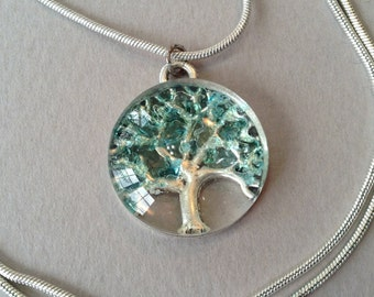 Tree of Life Pendant and Sterling Silver Chain Necklace