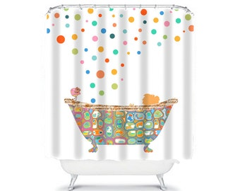 Kids Shower Curtain Bathroom Decor Shower Curtains, Child Shower Curtain,  Kids Bathroom Decor,