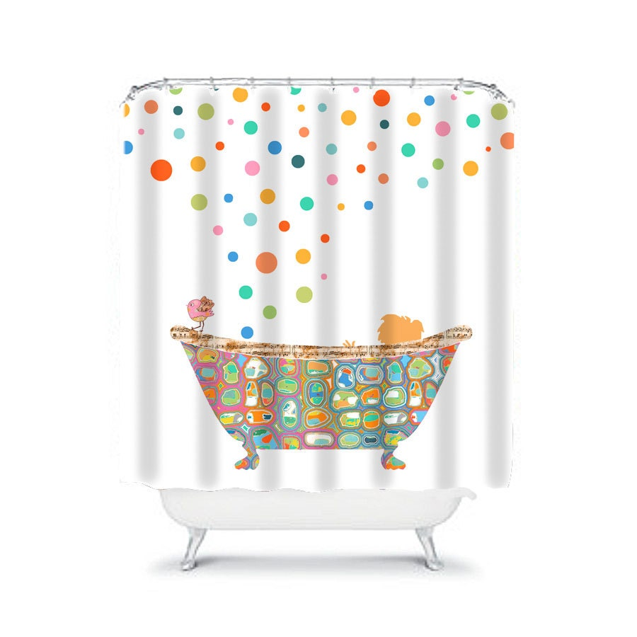 Kids bathroom shower curtain