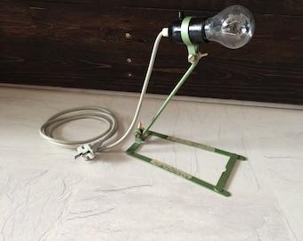"""Vintage industrial German hammer steel desk lamp metal """"Wire"""""""