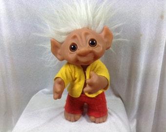 1977 Dam Troll Doll Boy - 9 Inch