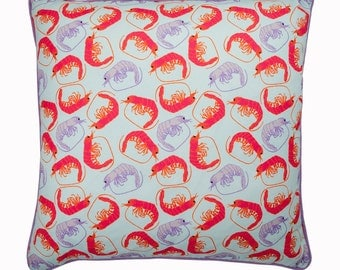 Prawn Pattern Cushion